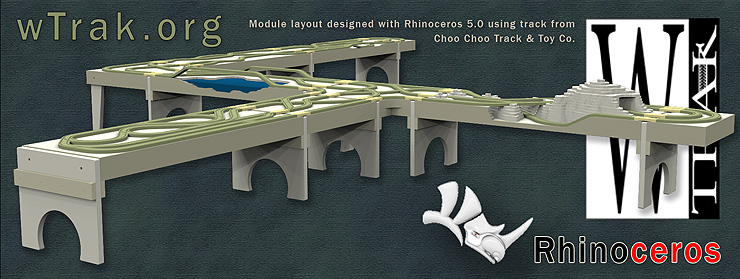 sample layout modeled using Rhino 5.0 and Choo Choo Track